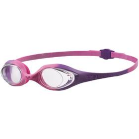 arena Spider Maschera Bambino, violet/clear/pink